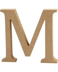 MDF-kirjain, M, Kork. 8 cm, paksuus 1,5 cm, 1 kpl