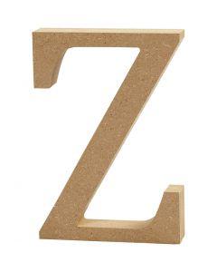 MDF-kirjain, Z, Kork. 8 cm, paksuus 1,5 cm, 1 kpl