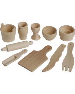 Puiset keittiövälineet, Pit. 40-60 mm, 50 kpl/ 1 pkk