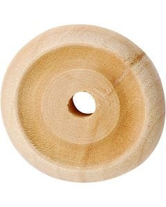 Puupyörä, halk. 24x8 mm, 8 kpl/ 1 pkk
