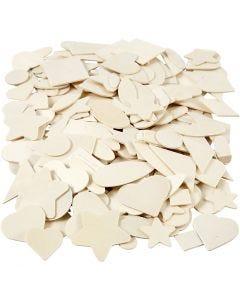 Puumosaiikit, koko 1,3-5,5 cm, 500 kpl/ 1 pkk