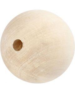 Puuhelmi, halk. 80 mm, aukon koko 12 mm, 1 kpl