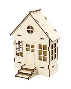 Rakennettava talo, Kork. 24 cm, syvyys 6(12,5) cm, Lev: 19 cm, 1 kpl