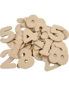 Numero, Kork. 4 cm, paksuus 2,5 mm, 30 kpl/ 1 pkk