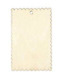 Pakettietiketti, koko 8x5,2 cm, paksuus 3 mm, 8 kpl/ 1 pkk