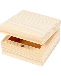 Puinen korurasia, koko 6x6x3,5 cm, 2 kpl/ 1 pkk