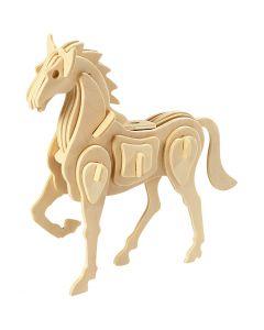 3D-palapeli, hevonen, koko 18x4,5x16 cm, 1 kpl