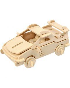 3D-palapeli, auto, koko 13x9x6 cm, 1 kpl