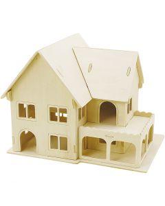 3D-palapeli, talo verantoineen, koko 22,5x16x17,5 , 1 kpl