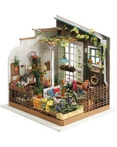 DIY minihuone, Puutarha, Kork. 21 cm, Lev: 19,5 cm, 1 kpl