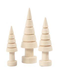 Joulupuu, Kork. 5+6+7 cm, halk. 14+18+22 mm, 3 kpl/ 1 pkk