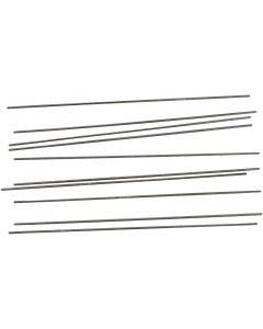 Metallipuikot, Pit. 20 cm, halk. 2 mm, 10 kpl/ 1 pkk