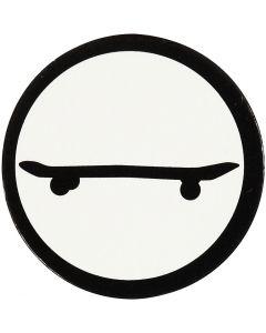 Kartonkikuvio, skeittilauta, halk. 25 mm, valkoinen/musta, 20 kpl/ 1 pkk