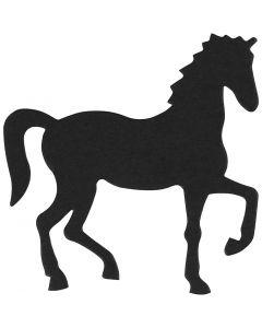 Kartonkikuvio, hevonen, koko 60x64 mm, musta, 10 kpl/ 1 pkk
