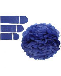 Pompomit, halk. 20+24+30 cm, 16 g, tummansininen, 3 kpl/ 1 pkk