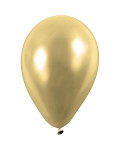 Ilmapallot, pyöreät, halk. 23 cm, kulta, 8 kpl/ 1 pkk