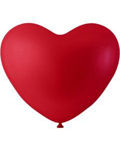 Ilmapallot, sydän, punainen, 8 kpl/ 1 pkk