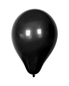 Ilmapallot, halk. 23 cm, musta, 10 kpl/ 1 pkk