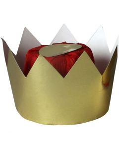 Kartonkikruunu, Kork. 7 cm, halk. 9 cm, 1 kpl