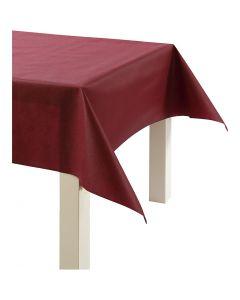 Pöytäliina kangasjäljitelmää, Lev: 125 cm, 70 g, viininpunainen, 10 m/ 1 rll