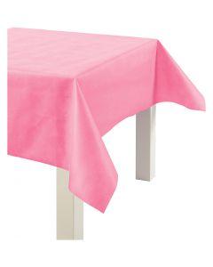Pöytäliina kangasjäljitelmää, Lev: 125 cm, 70 g, pinkki, 10 m/ 1 rll