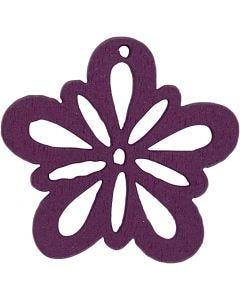 Kukka, halk. 27 mm, tumma lila, 20 kpl/ 1 pkk