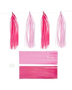 Paperitasselit, koko 12x35 cm, pinkki, vaaleanpunainen, 12 kpl/ 1 pkk