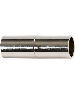 Magneettilukko, Pit. 20 mm, aukon koko 5 mm, hopeanväriset, 2 kpl/ 1 pkk