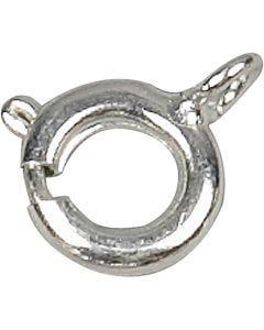 Jousirengaslukko, halk. 7 mm, hopeanväriset, 100 kpl/ 1 pkk