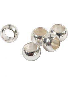 Lukitushelmi, halk. 2,5 mm, hopeanväriset, 100 kpl/ 1 pkk