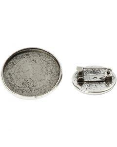 Rintakorupohja, halk. 18+25 mm, antiikkihopean väris, 6 kpl/ 1 pkk