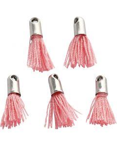 Riipus, Pit. 10 mm, aukon koko 1 mm, vaaleanpunainen, 5 kpl/ 1 pkk