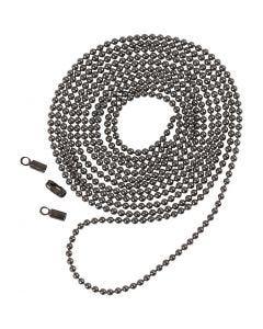 Kuulaketju, halk. 1,5 mm, tummanharmaa metallic, 1 m
