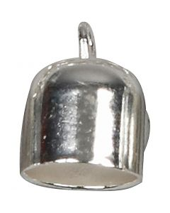 Nyörinpää, Pit. 11 mm, halk. 8 mm, hopeanväriset, 6 kpl/ 1 pkk