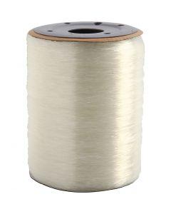 Elastinen korulanka, pyöreä, paksuus 0,8 mm, 1000 m/ 1 rll