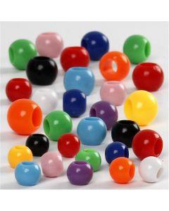 Kongo-muovihelmet, koko 6-10 mm, aukon koko 3-5 mm, 150 ml/ 1 pkk, 85 g