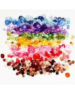 Särmähelmet, halk. 4-12 mm, aukon koko 1-2,5 mm, värilajitelma, 7x250 g/ 1 pkk