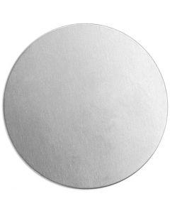 Metallilaatta, pyöreä, halk. 20 mm, paksuus 1,3 mm, alumiini, 15 kpl/ 1 pkk