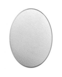 Metallilaatta, soikea, koko 18x13 mm, paksuus 1,3 mm, alumiini, 15 kpl/ 1 pkk