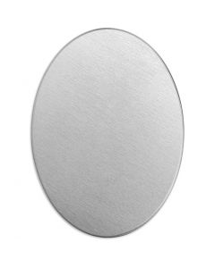 Metallilaatta, ovaali, koko 25x18 mm, paksuus 1,3 mm, alumiini, 15 kpl/ 1 pkk