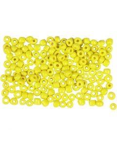 Rocaille-siemenhelmet, halk. 3 mm, koko 8/0 , aukon koko 0,6-1,0 mm, keltainen, 500 g/ 1 pkk