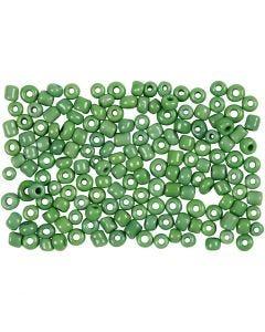 Rocaille-siemenhelmet, halk. 3 mm, koko 8/0 , aukon koko 0,6-1,0 mm, vihreä, 500 g/ 1 pkk
