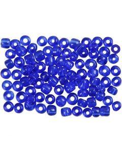 Rocaille-siemenhelmet, halk. 4 mm, koko 6/0 , aukon koko 0,9-1,2 mm, kobaltin sininen, 500 g/ 1 pkk