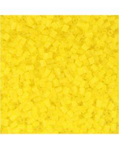Siemenhelmet, Putki, halk. 1,7 mm, koko 15/0 , aukon koko 0,5 mm, kuulto keltainen, 500 g/ 1 pss