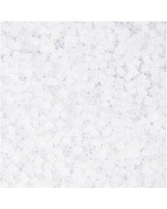 Siemenhelmet, Putki, halk. 1,7 mm, koko 15/0 , aukon koko 0,5 mm, valkoinen, 500 g/ 1 pss