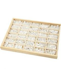 Kirjainhelmi, A-Z, &, #, ?, koko 8x8 mm, aukon koko 3 mm, valkoinen, 750 laj/ 1 pkk