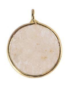 Koruriipus, Korukivi: beige jade kivi, halk. 15 mm, aukon koko 2 mm, beige, 1 kpl