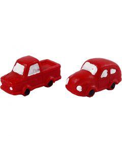 Pienet hahmot, Kork. 20 mm, Pit. 40 mm, punainen, 2 kpl/ 1 pkk
