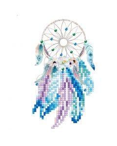 Diamond Dotz- timanttimaalaus, Dreams Come True, kortin koko 12,6x17,7 cm, kirjekuoren koko 13,6x18,6 cm, 1 pkk