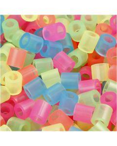 Putkihelmet, koko 5x5 mm, aukon koko 2,5 mm, medium, neonvärit, 5000 laj/ 1 pkk